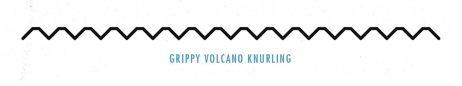 Illustration of volcano barbell knurling.