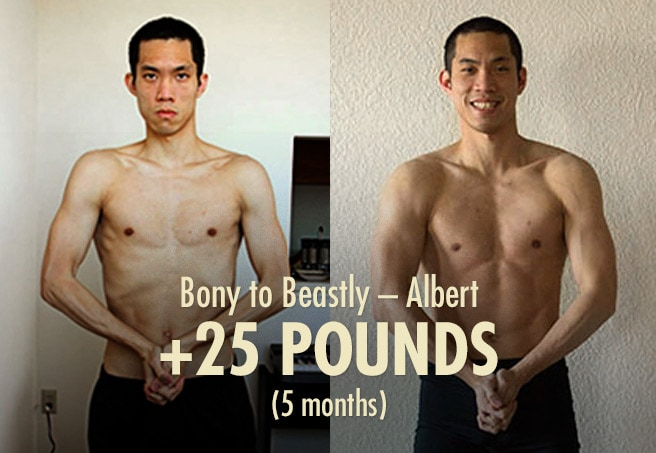 Albert Ectomorph Hardgainer Skinny Guy Transformation before after photos