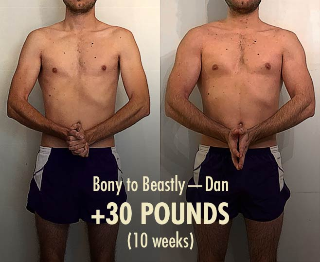 Dan skinny hardgainer before after bulking transformation