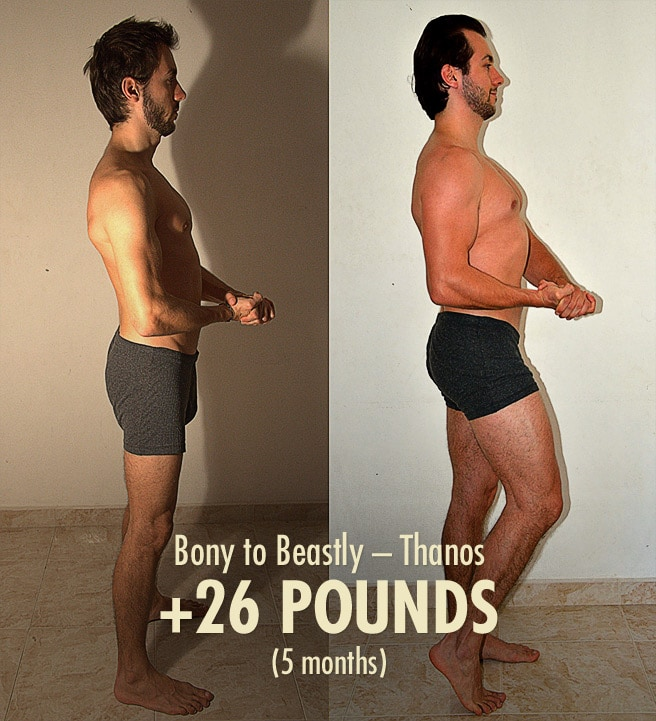Thanos Ectomorph Hardgainer Bulking Transformation Before After Photos