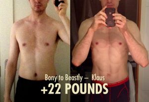 Before after photos skinny-fat to lean and muscular transformation