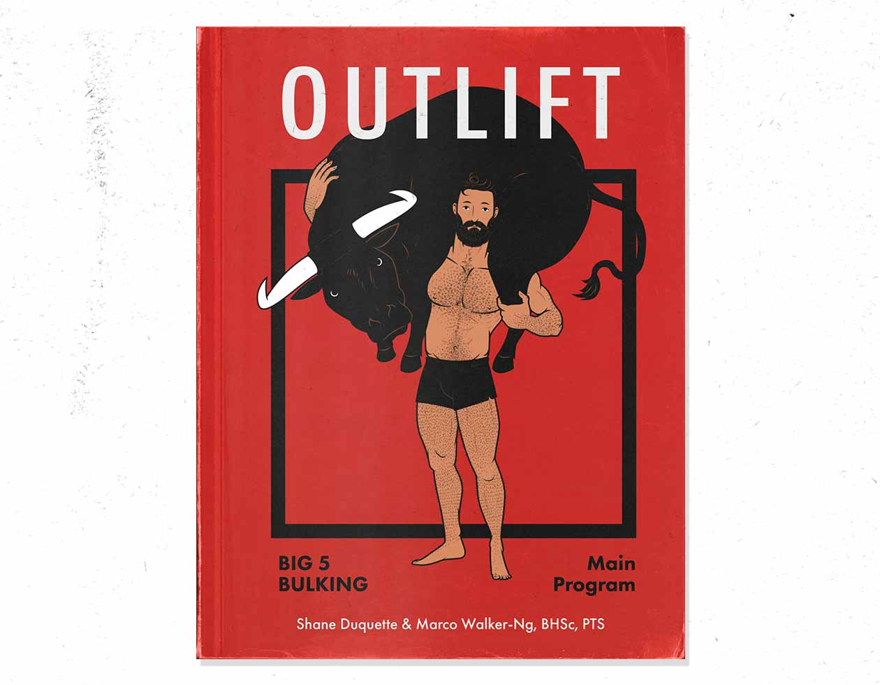 Cover illustration of the Outlift intermediate bulking program for naturally skinny guys.