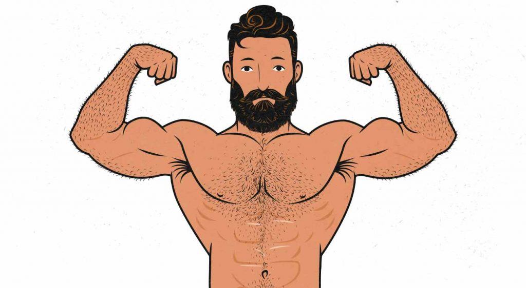 Illustration of a man flexing his biceps