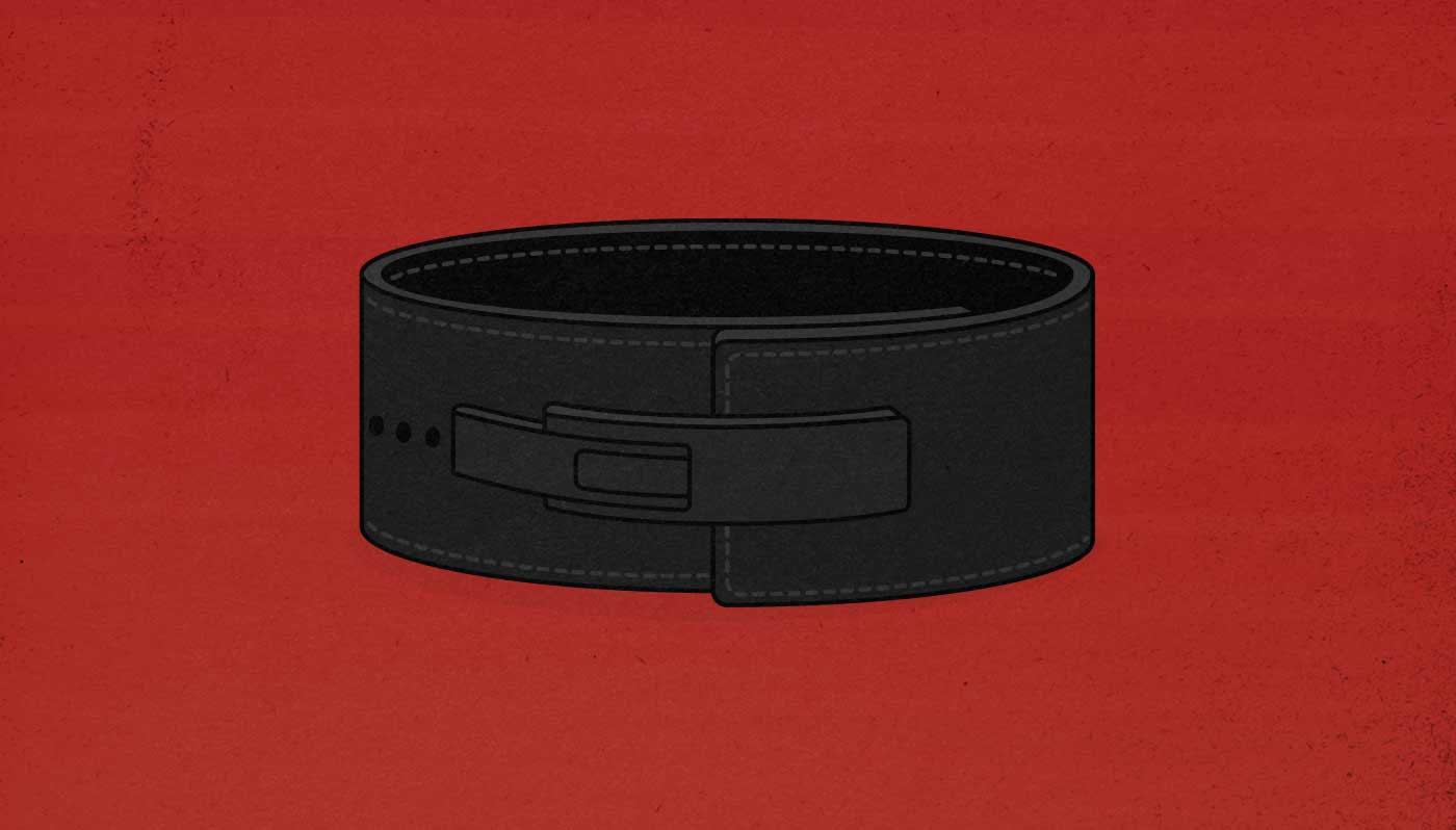 Illustration of a lever weightlifting belt.