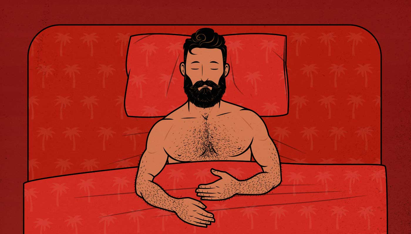 Illustration of a man sleeping.