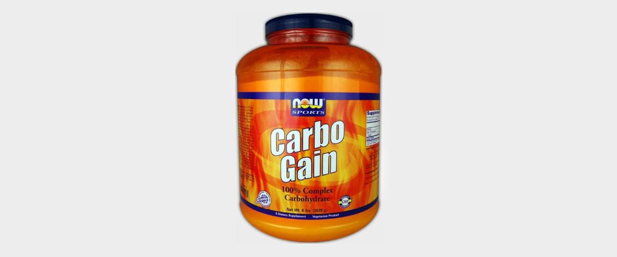 Imagen de un contenedor de carbohidratos en polvo