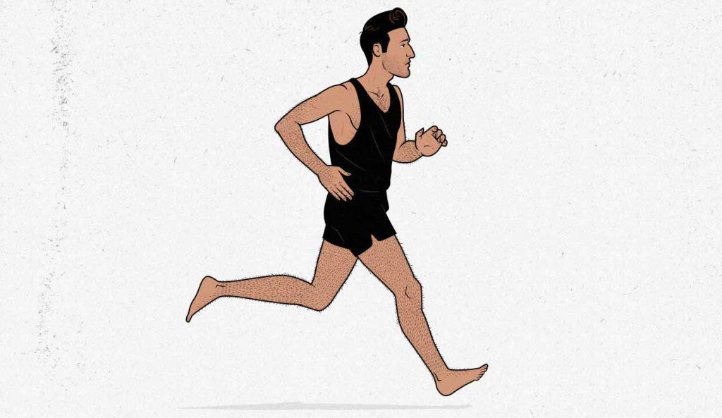 Hombre delgado (ectomorfo) corriendo