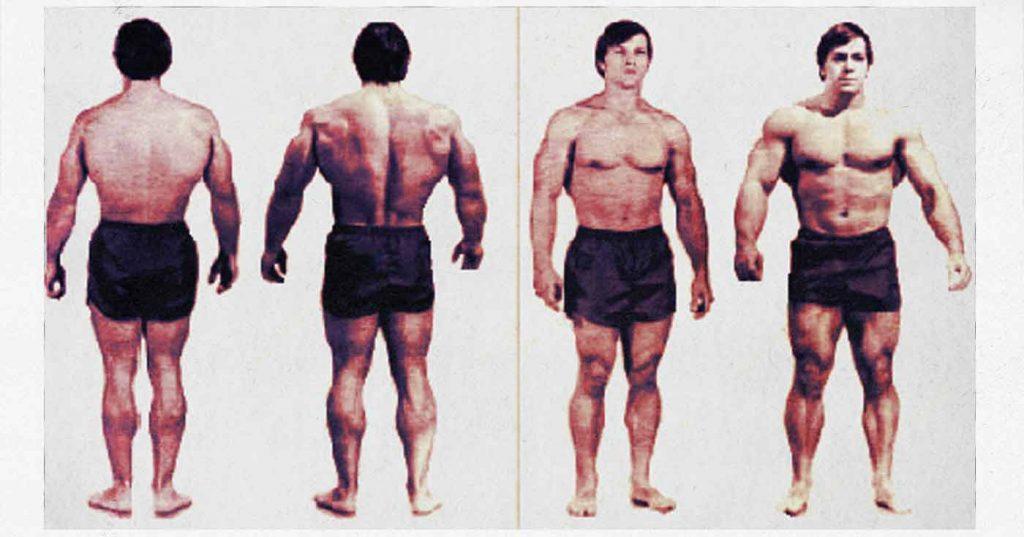 Foto de la transformación de Casey Viator con el programa de Arthur Jones.