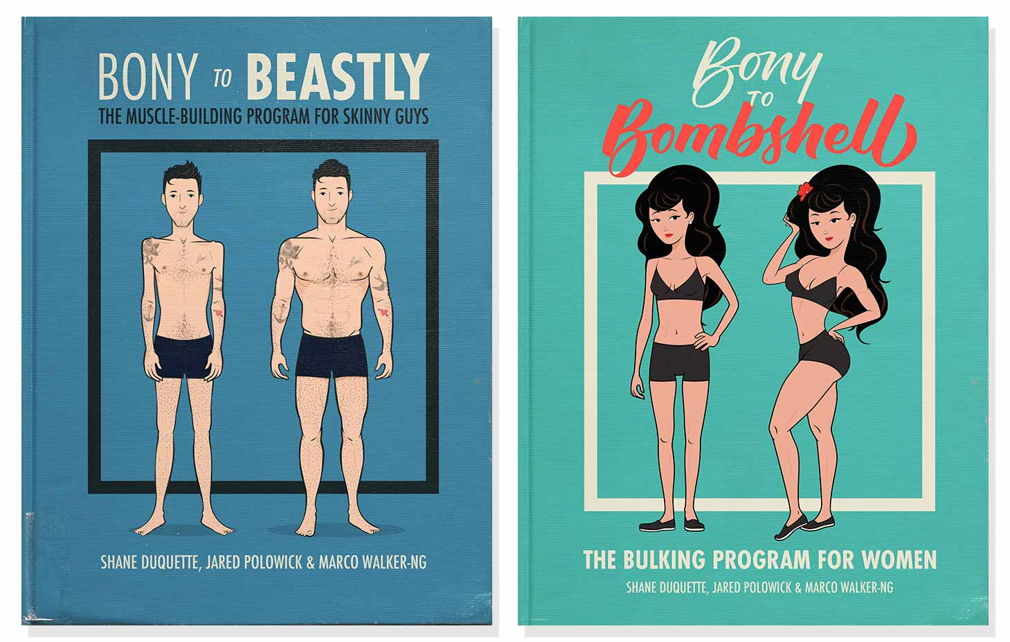 Bony to Beastly & Bombshell Bulking Programs for Skinny Men and Women.