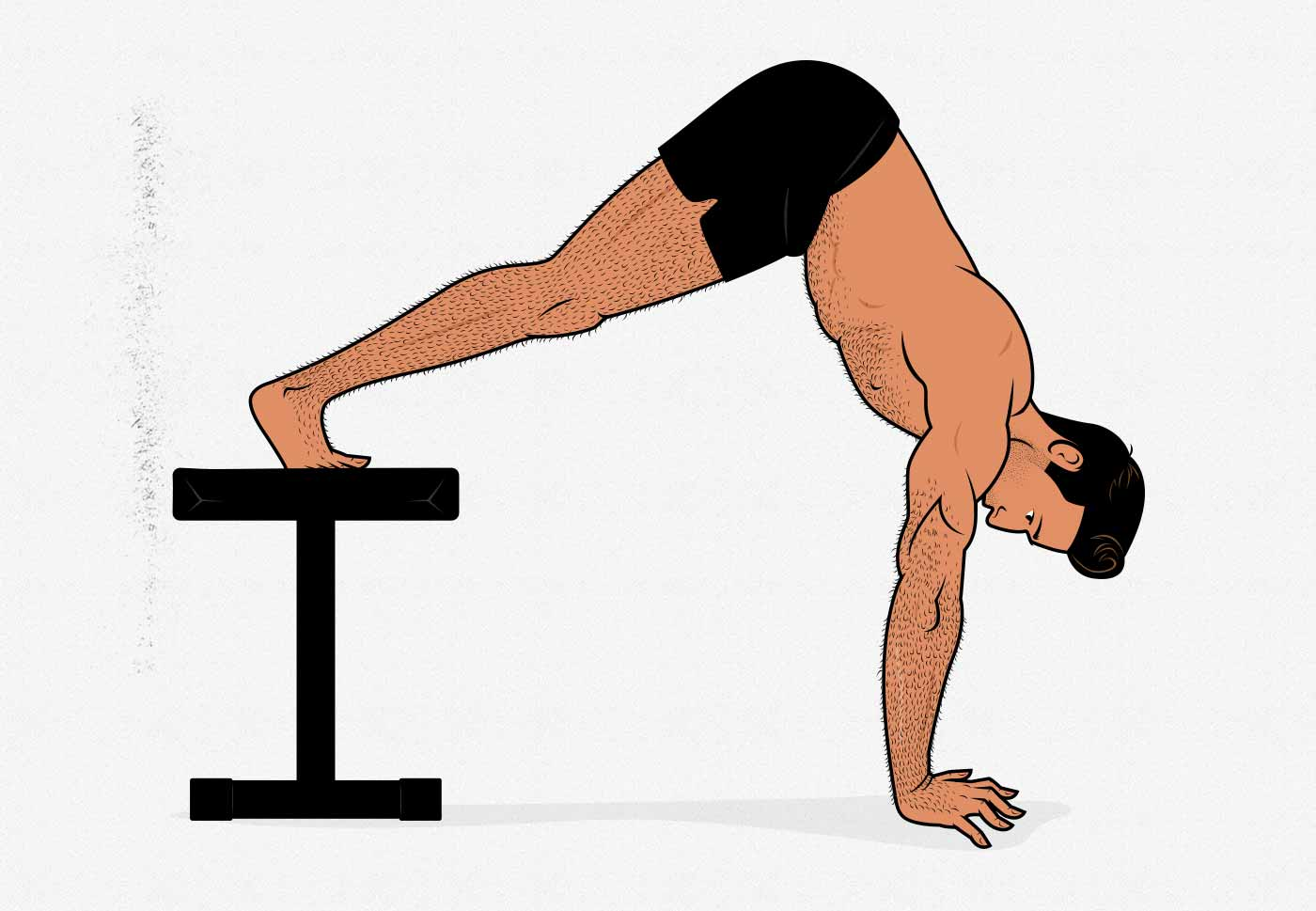 Ilustración de una flexión de brazos pike