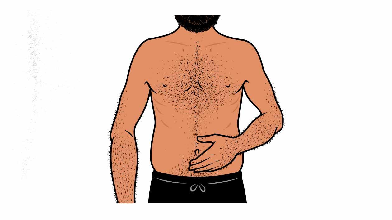 Illustration of a skinny-fat man.