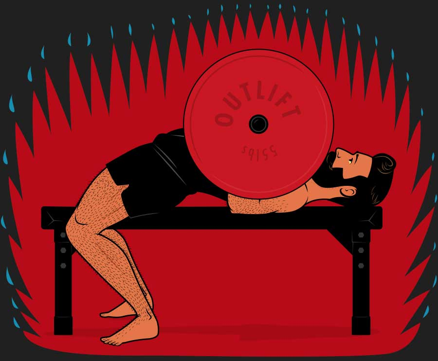 Illustration of a guy improving his bench press