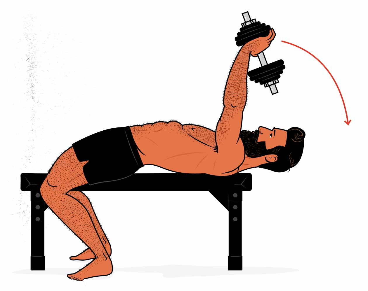 Illustration showing how to do the lat pulldown exercise.