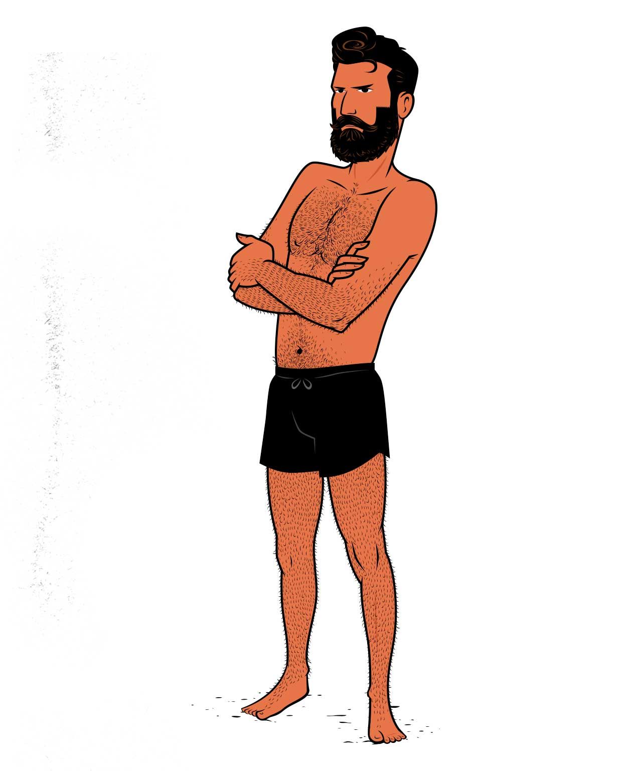 Illustration of a skinny guy.